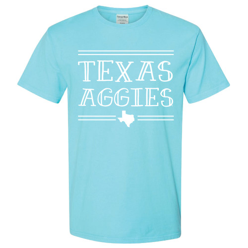 Texas Aggies Comfort Colors Freshwater Blue Short Sleeve T-Shirt