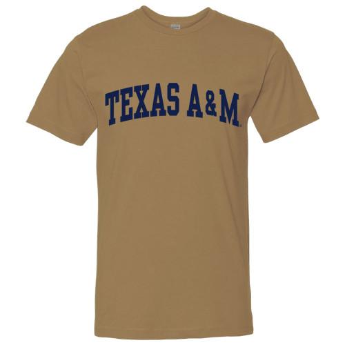 Texas A&M Aggies Arch Coyote Brown Short Sleeve T-Shirt