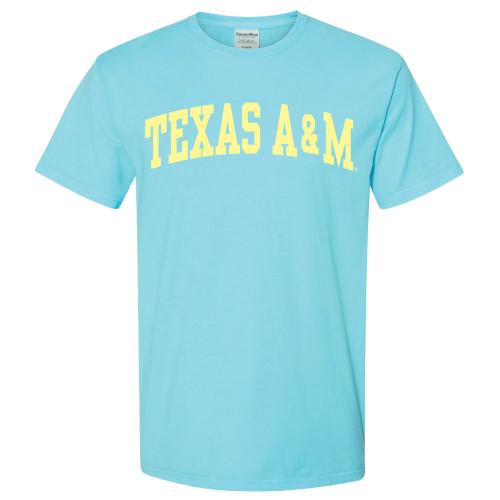 Texas A&M Aggies Arch ComfortWash Freshwater Blue Short Sleeve T-Shirt