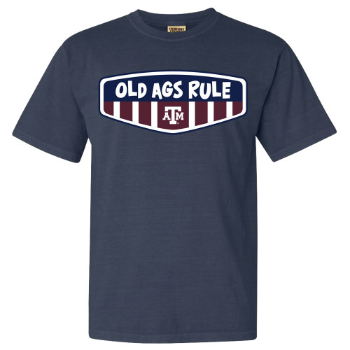 Texas A&M Aggies Old Ags Rule Comfort Colors Denim Short Sleeve T-Shirt