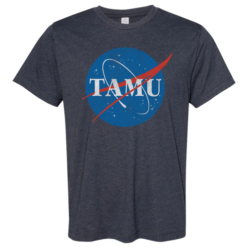 TAMU Space Short Sleeve Heather Midnight Navy T-Shirt