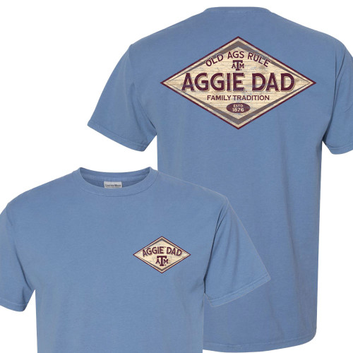 Texas A&M Aggie Dad Old Ags Rule Comfort Wash Saltwater