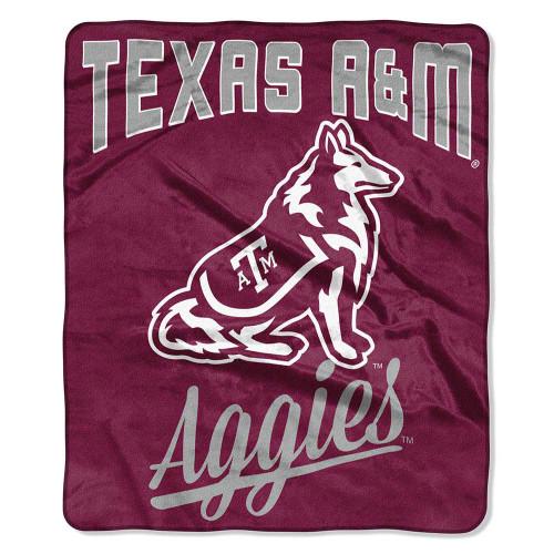 Texas A&M Aggies Raschel Throw Maroon