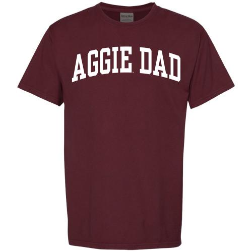 Texas A&M Aggie Dad Arch Short Sleeve Maroon Tee