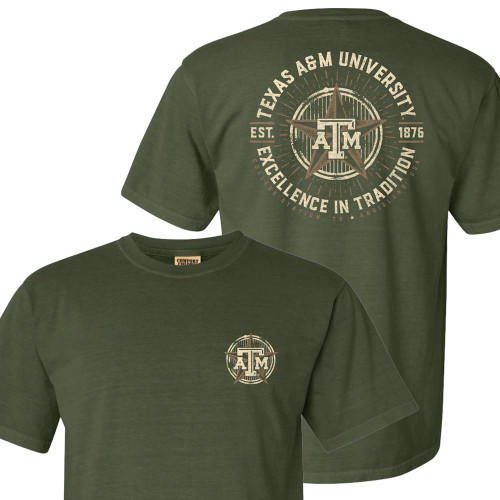 Texas A&M Aggies Excellence In Tradition Star Hemp Short Sleeve Tee