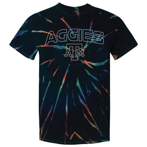 Texas A&M Aggies Galaxy Die Aurora Short Sleeve T-Shirt