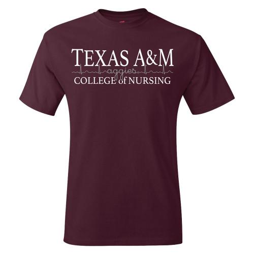 Texas A&M Aggies College of Nursing Maroon Short Sleeve T-Shirt