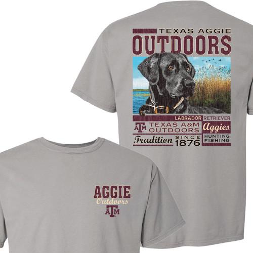 Texas A&M Aggies Texas Outdoors Lab Concrete Grey Short Sleeve T-Shirt