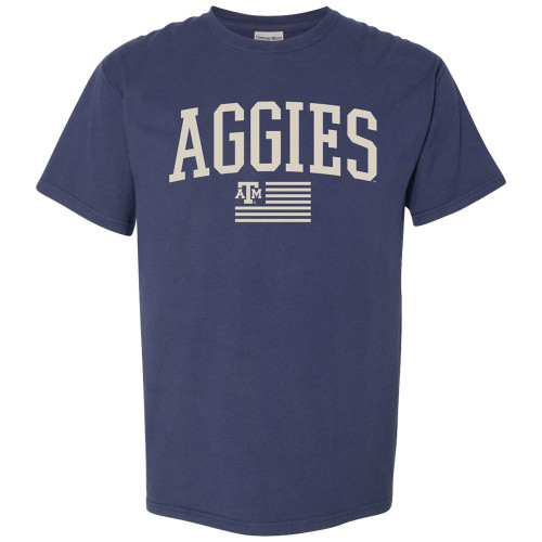 Aggies Arch Flag S/S - Navy