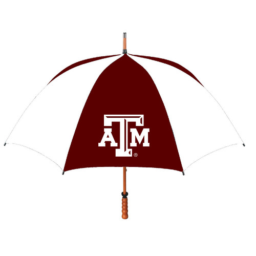 Texas A&M Aggies Maroon & White Wood Shaft Golf Umbrella (IN STORE PICK-UP ONLY)