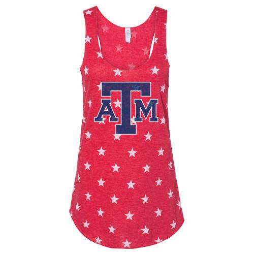Texas A&M Aggies Ladies Red Stars Tank