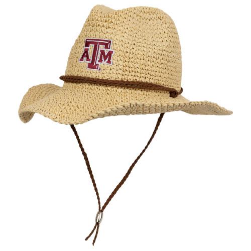 Texas A&M Aggies Crushable Natural Cowboy Hat