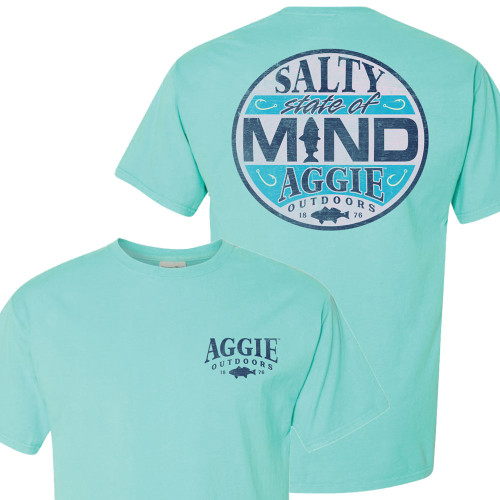 Texas A&M Aggies Salty State Of Mind Fish Outdoors Short Sleeve Mint T-Shirt
