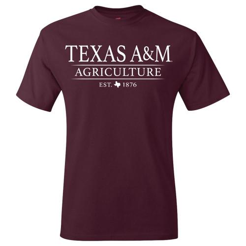 Texas A&M Aggies Agriculture Short Sleeve Maroon Tee