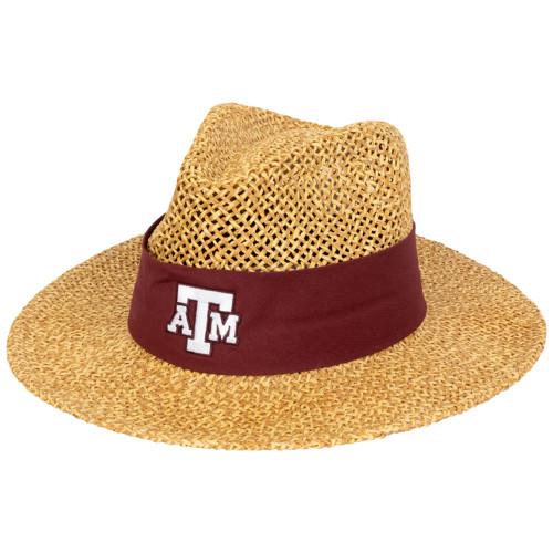 Texas A&M Aggies Twisted Straw Burgundy Hat