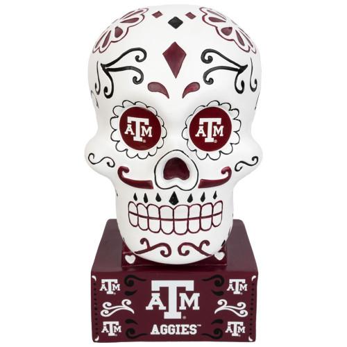 Texas A&M Aggies Sugar Skull Statue