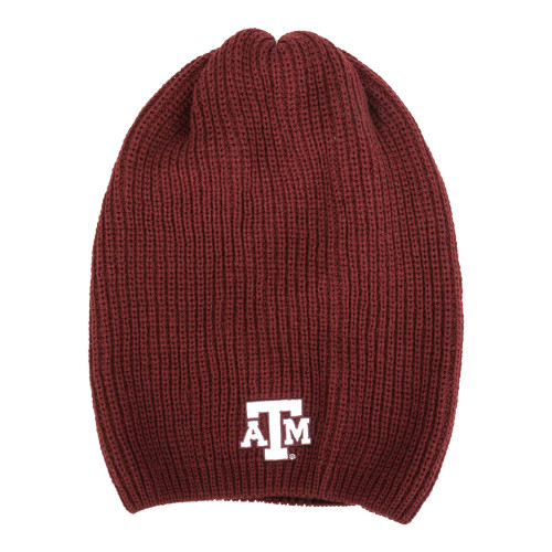 Texas A&M Aggies Hipster Loose Knit Slouchy Burgundy Beanie
