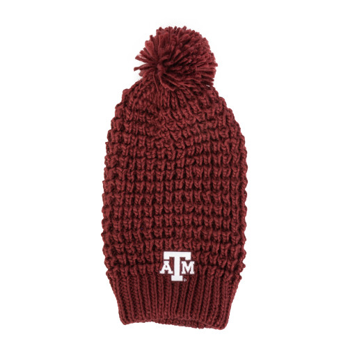 Texas A&M Aggies Chunky Knit Burgundy Hat With Pom