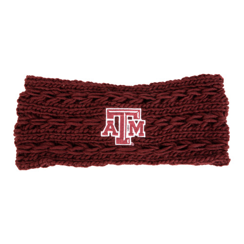 Texas A&M Aggies Knit Twist Burgundy Ear Band