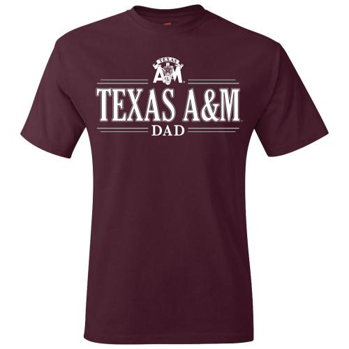 Texas A&M Aggies Corps Dad Maroon Shirt
