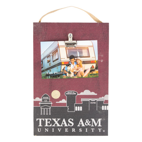 Texas A&M Aggies Skyline Clip It Picture Frame