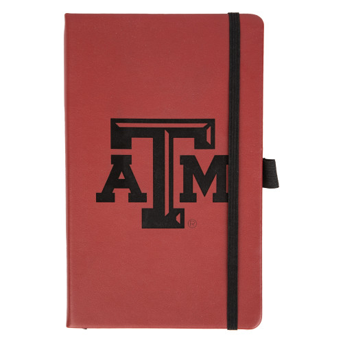 Texas A&M Aggies Laser Engraved Maroon Notepad With Elastic Band