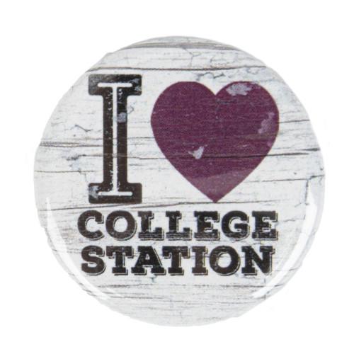 Texas A&M Aggies I Heart CSTAT Snap Button