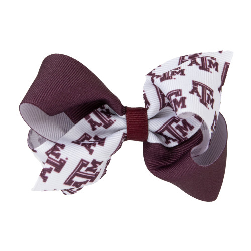 Texas A&M Aggies Small A&M Color Block Bow