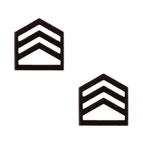 Texas A&M Corps of Cadets Black Metal STAFF SGT Chevron Rank