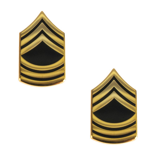 Texas A&M Corps of Cadets Army Master Sergeant Chevron Rank Gold/Black
