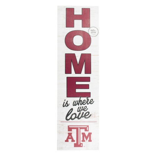 Texas A&M Aggies 10x35 Maroon Indoor/Outdoor Sign Home Is