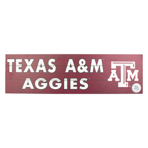 Texas A&M Aggies 35x10 Indoor/Outdoor Colored Logo Sign