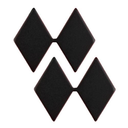 Texas A&M Corps of Cadets Black 2 Diamond Lieutenant Colonel Rank