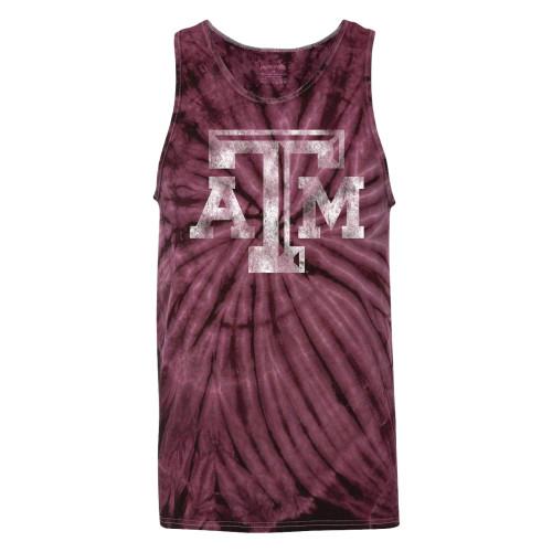ATM Tie Dye Tank - Maroon