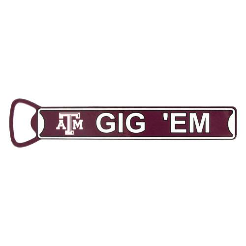 Texas A&M Aggies Gig 'Em Bottle Opener Magnet