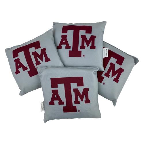 Texas A&M Aggies 4 Pack Grey Bean Bag Set