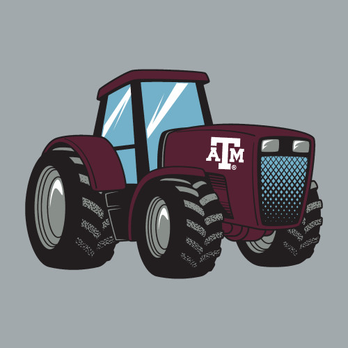 Texas A&M Aggies 5 x 3.5 Tractor Decal