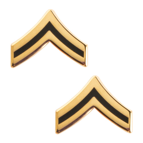 Texas A&M Corps of Cadets Army Corporal Chevron Rank Gold/Black