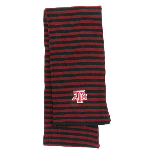 Texas A&M Aggies Micro-Stripe Knit Maroon & Black Scarf