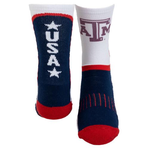 Texas A&M Aggies Youth Patriotic Socks