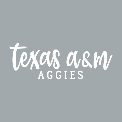TX AM Ags Script Font Decal