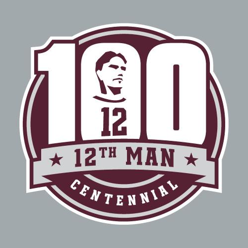 12th Man Centennial Decal