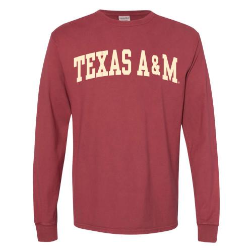Texas A&M Aggies Arch Long Sleeve Cayenne T-Shirt