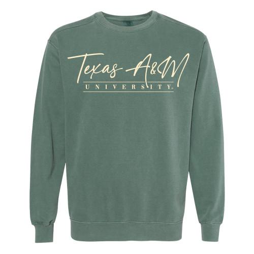 Texas A&M University Script Blue Spruce Comfort Colors