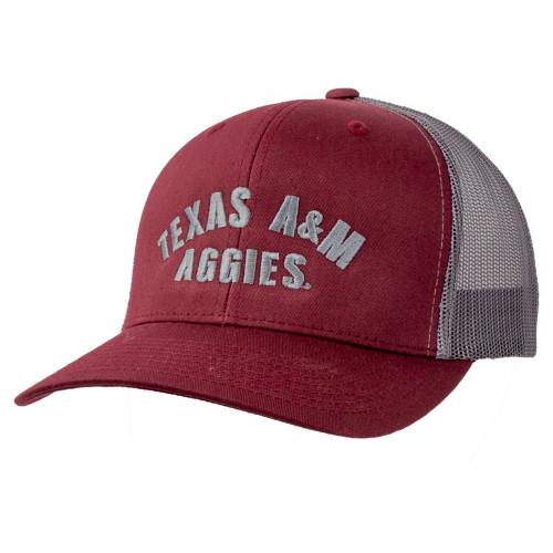 TX A&M Maroon/Grey Mesh Back Cap