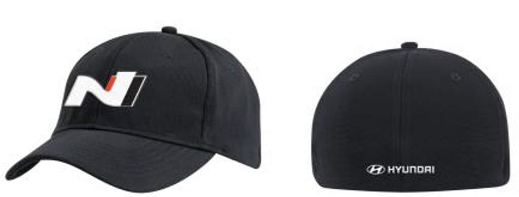 Hyundai N Series Black Cap - One Size  - Official Merchandise - Part no. HY63366NSBCAP