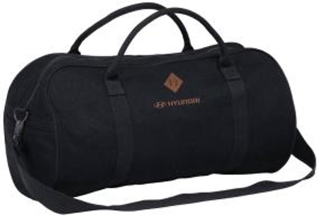 Hyundai Black Duffle Sports Bag - Part no. HY63340HYBDS