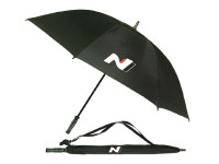 Hyundai N Series Black Track Umbrella  - Official Merchandise - Part no. HY63232NSBTU