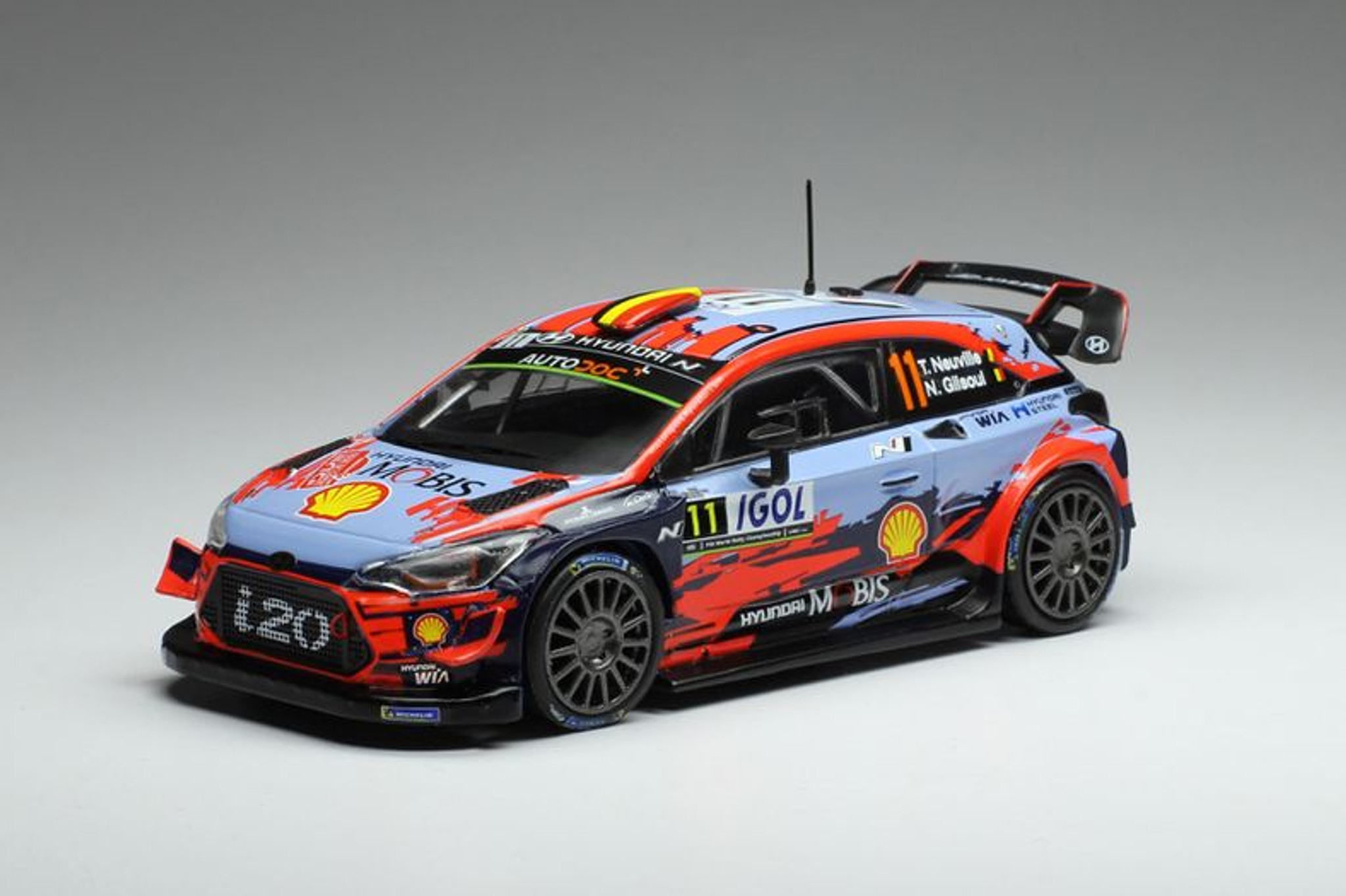 Hyundai Wrc 11 Hyundai I20 Coupe Wrc Hierry Neuville And Nicolas Gilsoul Part No Hy1ova184001