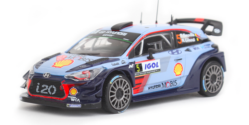 1:43 scale Hyundai i20 Coupe WRC model car #5 - Part no. HY1OVA167001